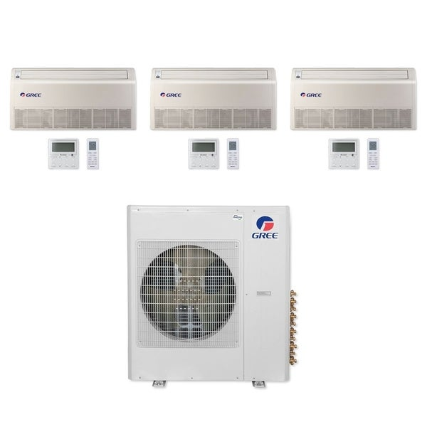 Gree MULTI42CFLR307 - 42,000 BTU Multi21+ Tri-Zone Floor/Ceiling Mini Split A/C Heat Pump 208-230V (9-18-18) - A/C & Heater