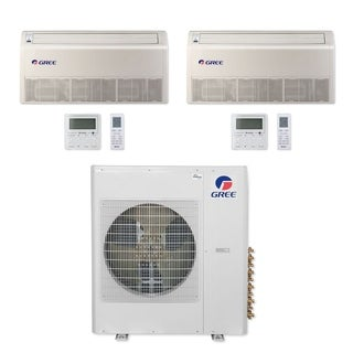 Gree MULTI42CFLR205 - 42,000 BTU Multi21+ Dual-Zone Floor/Ceiling Mini Split A/C Heat Pump 208-230V (12-18) - A/C & Heater