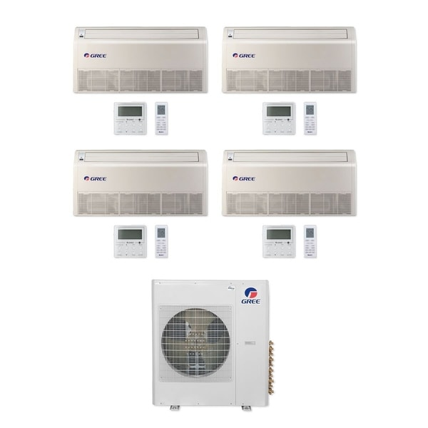 Gree MULTI42CFLR402 - 42,000 BTU Multi21+ Quad-Zone Floor/Ceiling Mini Split A/C Heat Pump 208-230V (9-9-9-18) - A/C & Heater