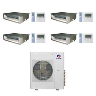 Gree MULTI42CDUCT400 - 42,000 BTU Multi21+ Quad-Zone Concealed Duct Mini Split A/C Heat Pump 208-230V (9-9-9-9) - A/C & Heater