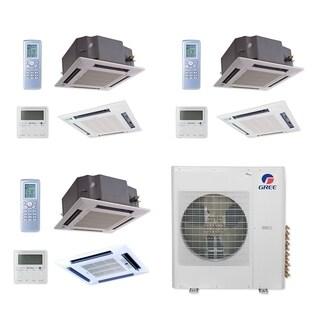 Gree MULTI42CCAS310 - 42,000 BTU Multi21+ Tri-Zone Ceiling Cassette Mini Split A/C Heat Pump 208-230V (12-12-24) - A/C & Heater
