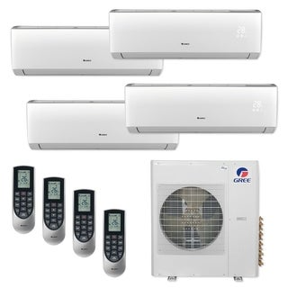 Gree MULTI42CVIR406 - 42,000 BTU Multi21+ Quad-Zone Wall Mount Mini Split A/C Heat Pump 208-230V (9-12-12-18 - A/C & Heater