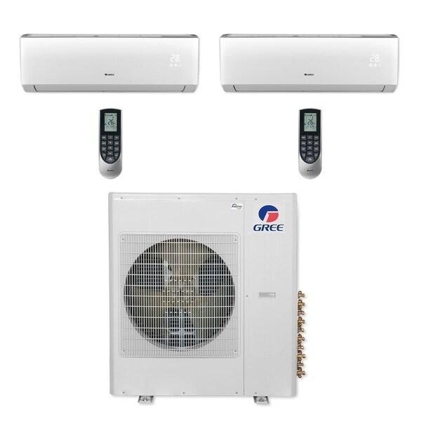 Gree MULTI36CVIR200 - 36,000 BTU Multi21+ Dual-Zone Wall Mount Mini Split A/C Heat Pump 208-230V (9-9) (A/C & Heater)