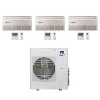 Gree MULTI42CFLR304 - 42,000 BTU Multi21+ Tri-Zone Floor/Ceiling Mini Split A/C Heat Pump 208-230V (9-12-12) - A/C & Heater