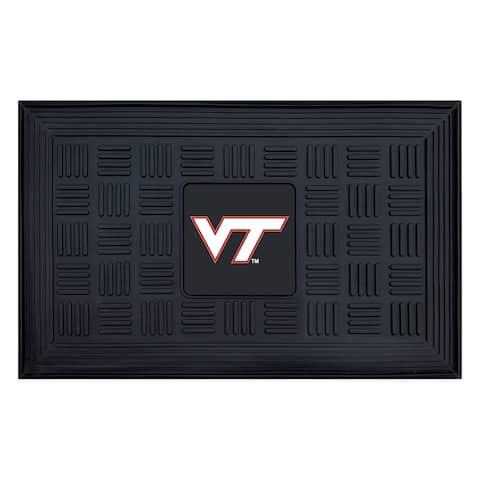 NCAA Virginia Tech Medallion Door Mat 19 in. x 30 in.