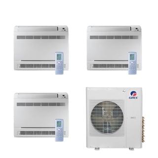 Gree MULTI42CCONS300 - 42,000 BTU Multi21+ Tri-Zone Floor Console Mini Split A/C Heat Pump 208-230V (9-9-9) - A/C & Heater