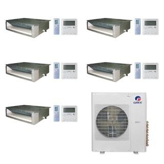 Gree MULTI42CDUCT500-42,000 BTU Multi21+ Penta-Zone Concealed Duct Mini Split A/C Heat Pump 208-230V (9-9-9-9-9) - A/C & Heater
