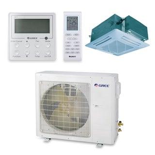 Gree UMAT18HP230V1AC-S - 18,000 BTU 16 SEER Ceiling Cassette Ductless Mini Split A/C Heat Pump 208-230V (A/C & Heater)