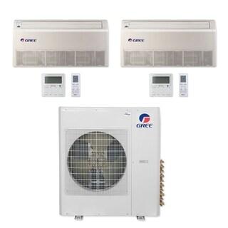 Gree MULTI42CFLR200 - 42,000 BTU Multi21+ Dual-Zone Floor/Ceiling Mini Split A/C Heat Pump 208-230V (9-9) (A/C & Heater)