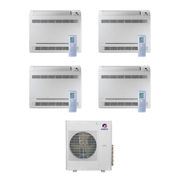 Gree MULTI42CCONS405 -42,000 BTU Multi21+ Quad-Zone Floor Console Mini Split A/C Heat Pump 208-230V (9-12-12-12) - A/C & Heater