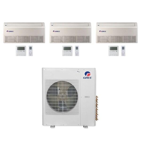 Gree MULTI42CFLR308 - 42,000 BTU Multi21+ Tri-Zone Floor/Ceiling Mini Split A/C Heat Pump 208-230V (12-12-12) - A/C & Heater
