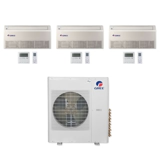 Gree MULTI42CFLR309 - 42,000 BTU Multi21+ Tri-Zone Floor/Ceiling Mini Split A/C Heat Pump 208-230V (12-12-18) - A/C & Heater
