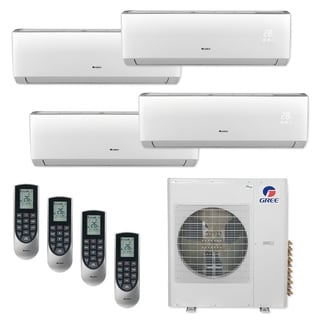 Gree MULTI42CVIR405 - 42,000 BTU Multi21+ Quad-Zone Wall Mount Mini Split A/C Heat Pump 208-230V (9-12-12-12 - A/C & Heater