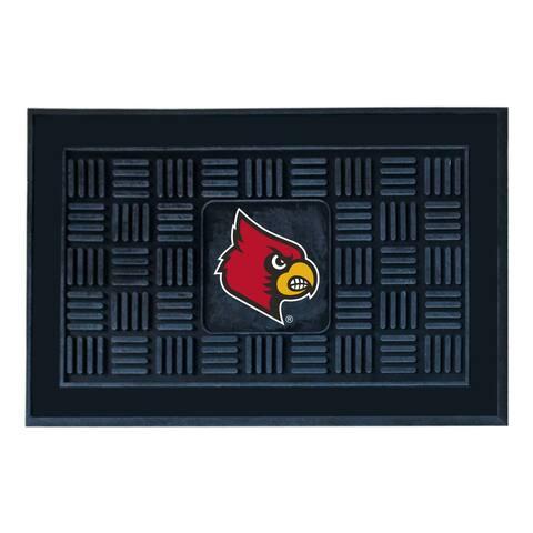NCAA University of Louisville Medallion Door Mat 19 in. x 30 in.