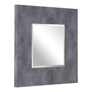 Uttermost Rohan Grey Square Mirror - Antique Silver - 36.5x36.5x2
