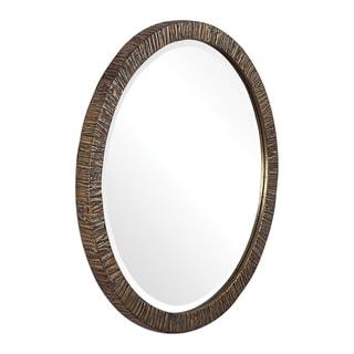 Uttermost Wayde Gold Bark Round Mirror - 30x30x1.5
