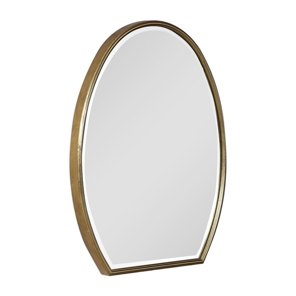 Uttermost Kenzo Gold Modified Oval Mirror