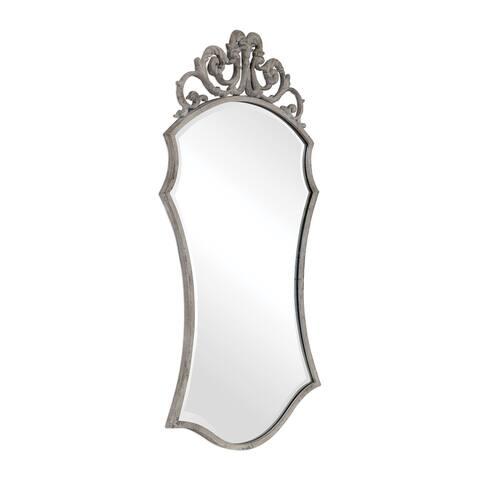 Uttermost Sadie Distressed Scroll Mirror - Ivory - 25x43.75x1