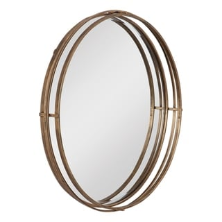 Uttermost Cannon Round Gold Mirror - Antique Gold - 36x36x4
