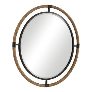 Uttermost Melville Coastal Round Mirror - Natural - 36.25x36.25x1.375