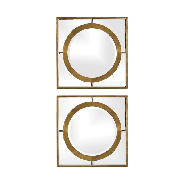 Uttermost Gaza Gold Square Mirrors (Set of 2) - Antique Gold