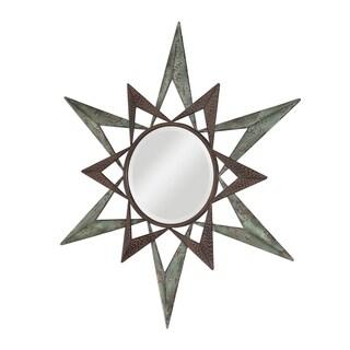 Uttermost Amary Two Tone Textured Star Round Mirror