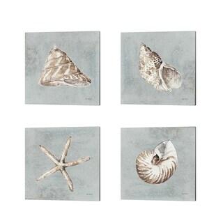 Lisa Audit 'Sand and Seashells' Canvas Art (Set of 4)