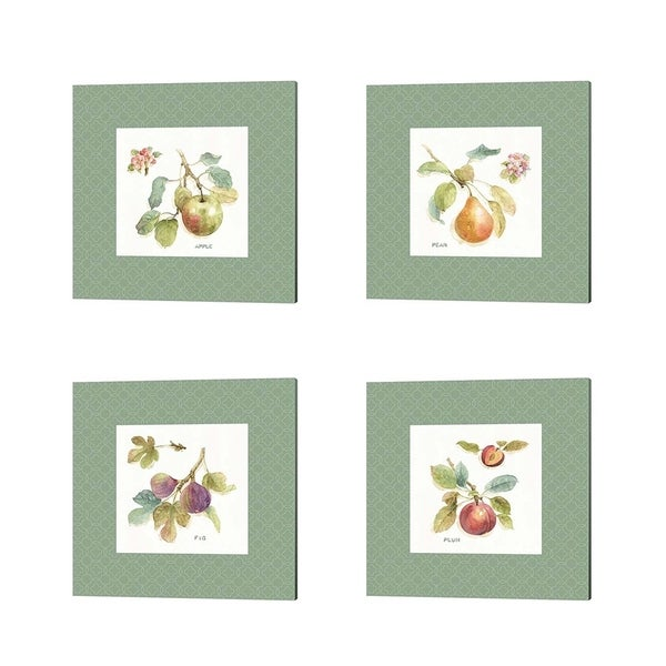 Porch & Den Kamen Lisa Audit 'Orchard Bloom Border' Canvas Art (Set of 4)