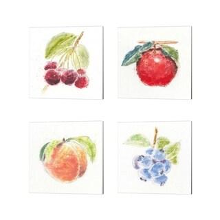 Emily Adams 'Garden Delight A' Canvas Art (Set of 4)