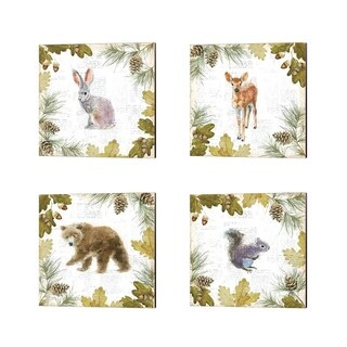 Emily Adams 'Into the Woods B' Canvas Art (Set of 4)