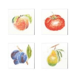 Emily Adams 'Garden Delight B' Canvas Art (Set of 4)