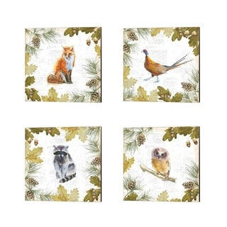 Emily Adams 'Into the Woods A' Canvas Art (Set of 4)