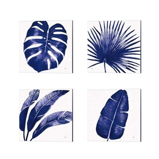 Janelle Penner 'Welcome to Paradise Indigo' Canvas Art (Set of 4)