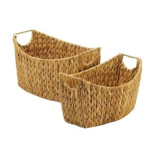 Bodega Weaved Straw Storage Baskets - Set of 2