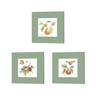 Lisa Audit 'Orchard Bloom Border' Canvas Art (Set of 3)