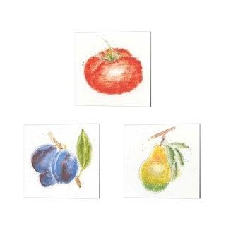 Emily Adams 'Garden Delight B' Canvas Art (Set of 3)