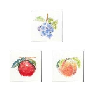 Emily Adams 'Garden Delight A' Canvas Art (Set of 3)