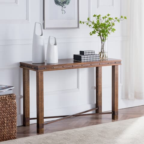 Carbon Loft Nicholas Rustic Industrial Console Table