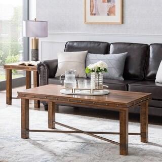 Carbon Loft Nicholas Rustic Industrial Coffee Table