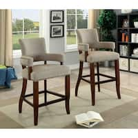 Valladolid Brown Upholstered Contemporary Bar Chair