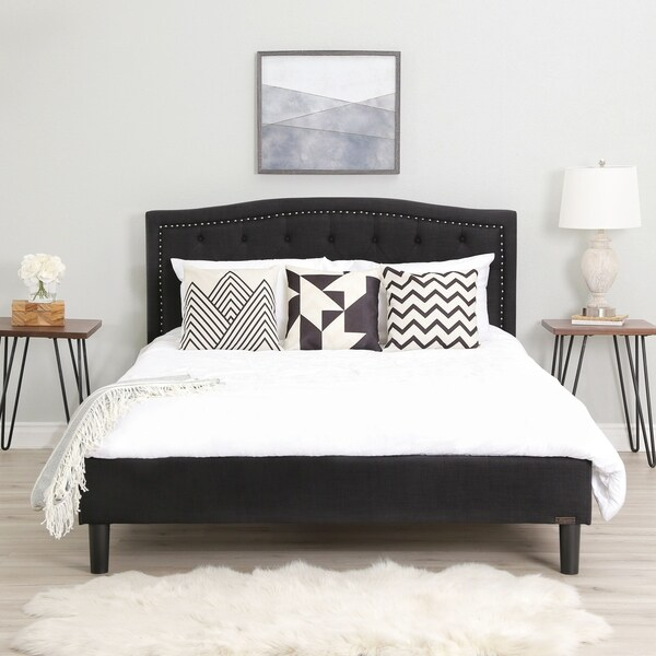 Abbyson Mandy Tufted Upholstered Bed. Opens flyout.
