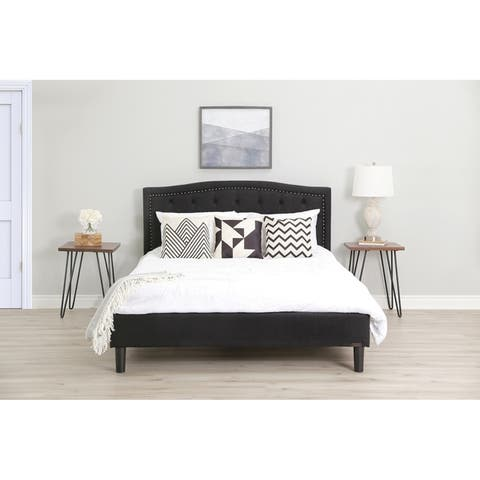 Abbyson Mandy Tufted Upholstered Bed