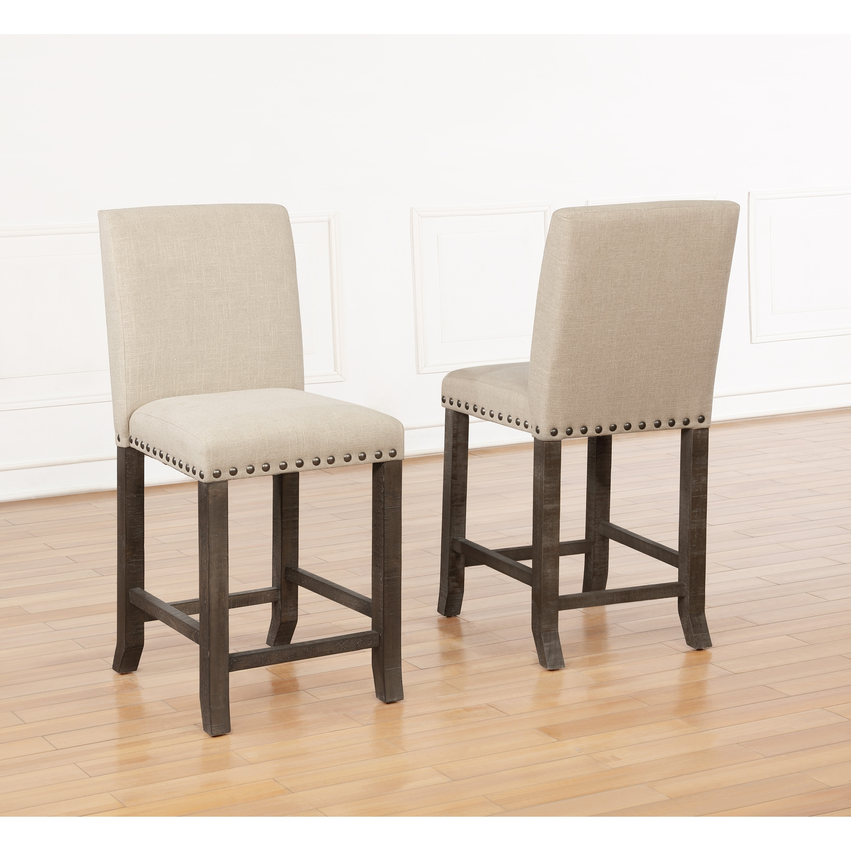 Best Quality Furniture Upholstered Counter Height Dining Chair Set Of 2 On Sale Overstock 25612799