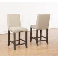 Best Quality Furniture Upholstered Counter Height Dining Chair (Set of 2)