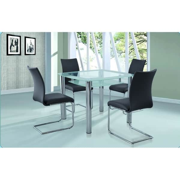 Small Dining Table Set For 4, Shop New Spec Small Glass Dining Room Set Of 5 Pieces In Grey Color On Sale Overstock 25612814