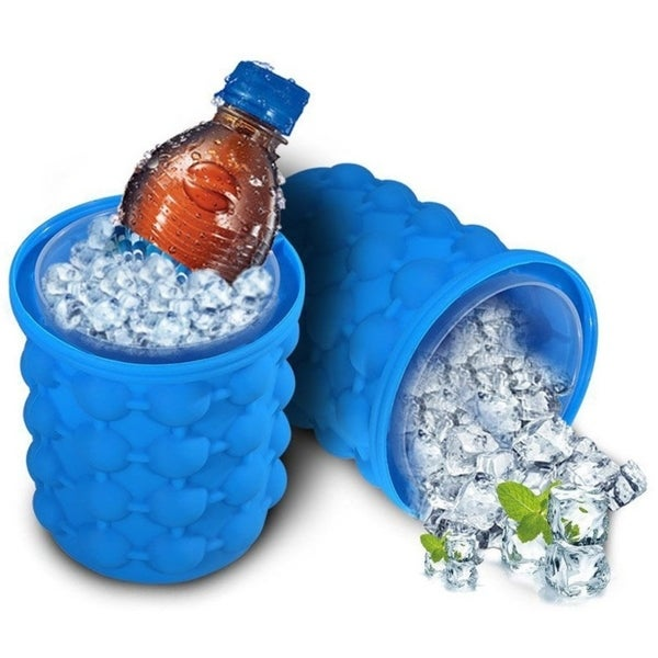 ICE Cube Maker Genie Space Saving Ice Cube Maker, Ice Bucket & Beverage Cooler