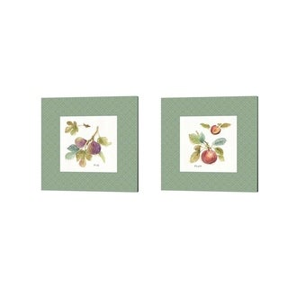 Lisa Audit 'Orchard Bloom Border B' Canvas Art (Set of 2)