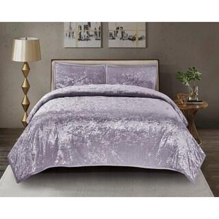 Mystique Velvet Quilt Set in Purple