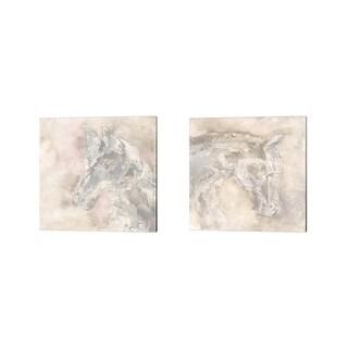 Chris Paschke 'Gray Head' Canvas Art (Set of 2)