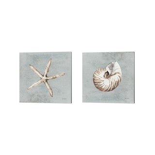 Lisa Audit 'Sand and Seashells B' Canvas Art (Set of 2)
